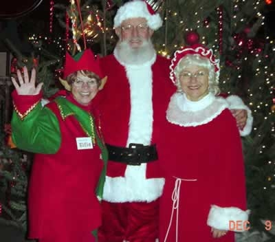 Christmas Storybook Land Santa Mrs Claus and Elf