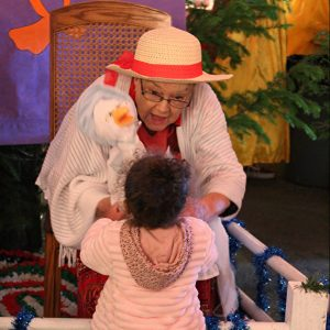 Mother Goose at Christmas Storybook Land