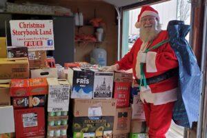 Santa Delivering Food image